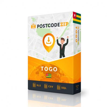 Postcode Ascension Island, postal code database
