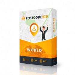 Christmas Island, database of post codes