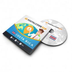 Costa Rica, Complete premium data set of location database
