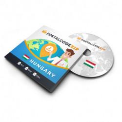 Hungary, Complete premium data set of location database