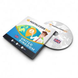 United Kingdom, Complete premium data set of location database